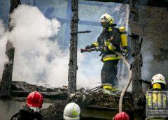 Pożar domu w Rędzinach