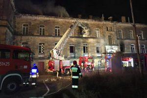 Kolejny pożar budynku dworca w Lubawce