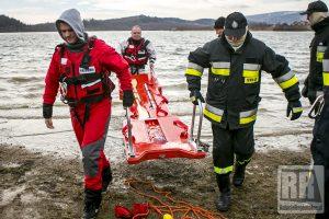 Strażacy-ochotnicy ćwiczyli na zbiorniku Bukówka