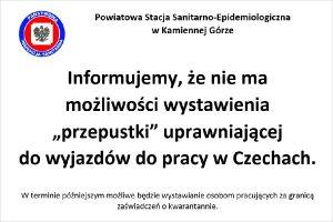"""Nie ma """"przepustek"""" uprawniających do wyjazdów do pracy w Czechach"""