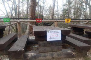 Zamknięte miejsca odpoczynku przy szlakach