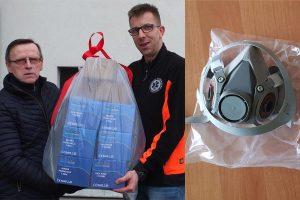 Zestawy specjalistycznych maseczek ochronnych dla Pogotowia Ratunkowego