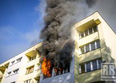 Pożar mieszkania w Kamiennej Górze