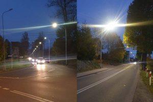 Oświetlone ulice Krzeszowska i Magazynowa w Kamiennej Górze