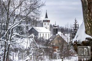 Gmina Marciszów w zimowej szacie