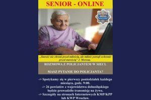Kamiennogórscy policjanci zapraszają seniorów na rozmowy w sieci