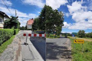 Zamknięcie drogi w Pisarzowicach