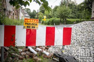 Odpadł fragment ściany budynku w Pisarzowicach