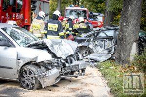 Wypadek na drodze Krzeszów-Jawiszów